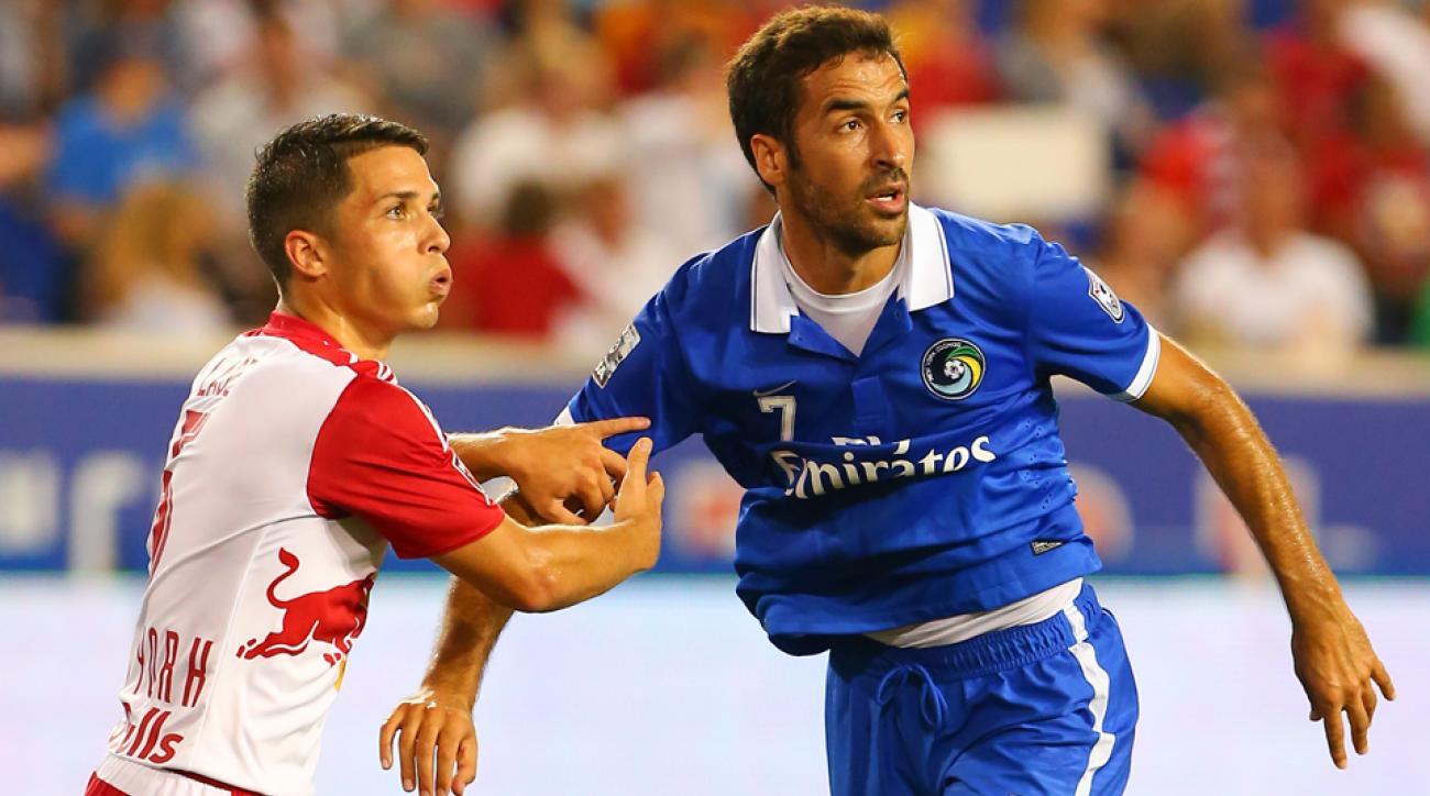 New York Cosmos forward Raul