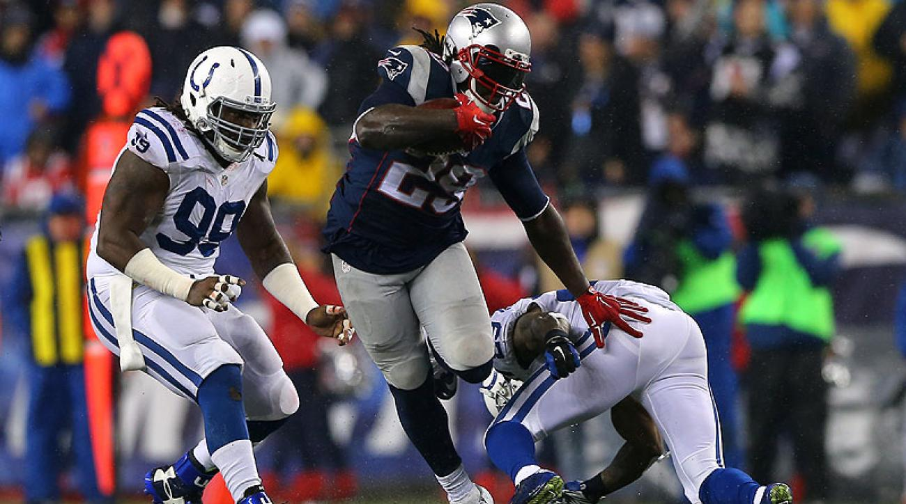Blount ran for 148 yards against Indy in the AFC title game.