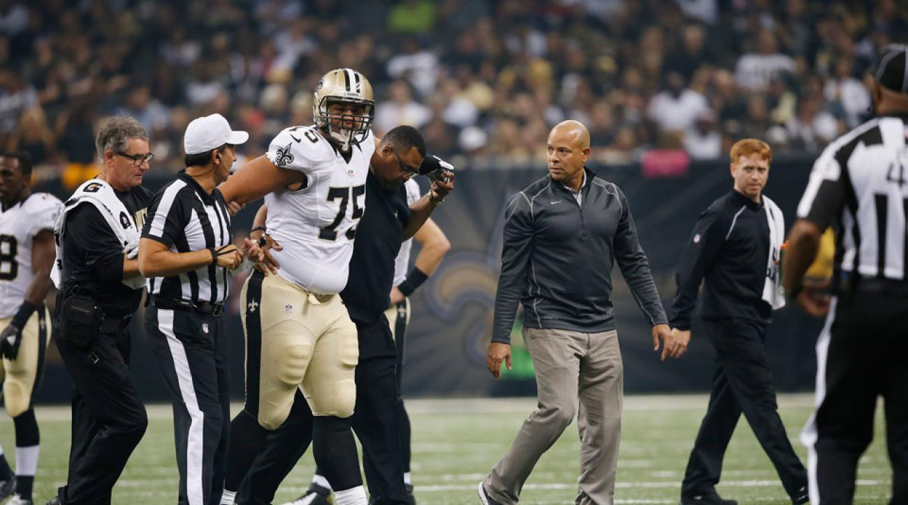 New Orleans Saints Andrus Peat knee injury update