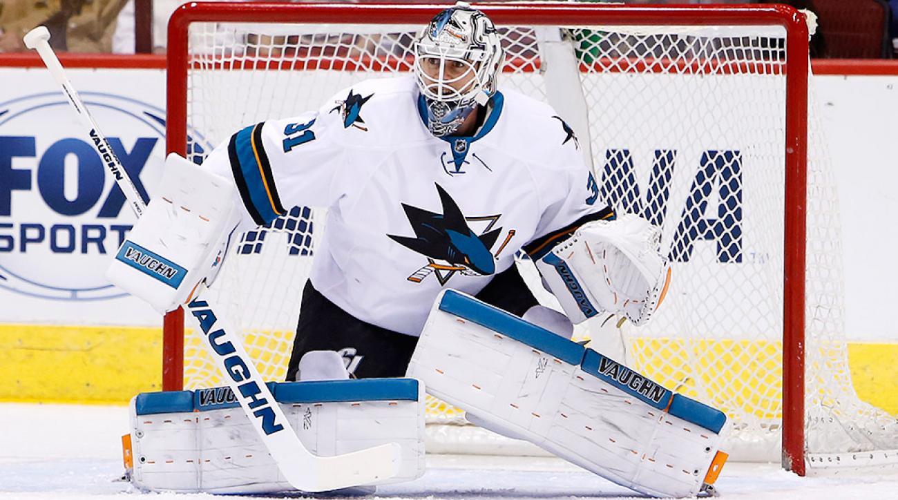 Martin Jones San Jose Sharks Boston Bruins trade