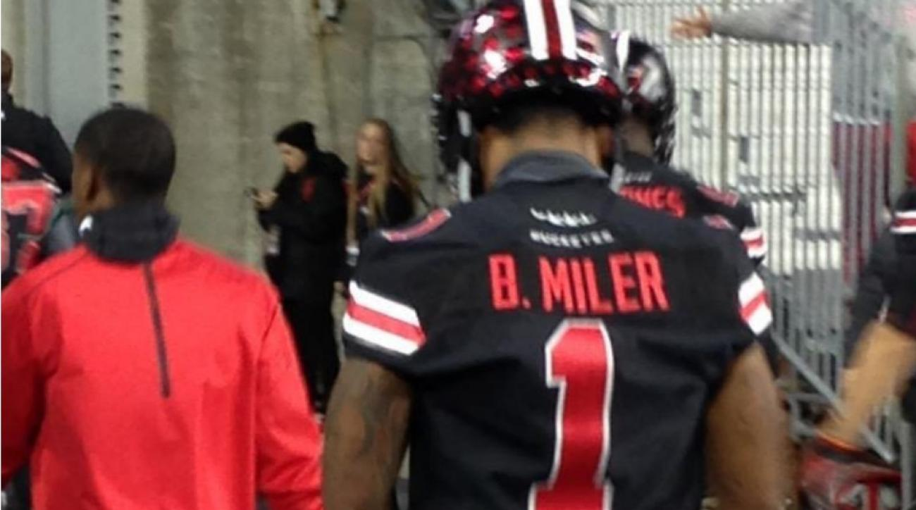 Ohio State's Braxton Miller had misspelled jersey