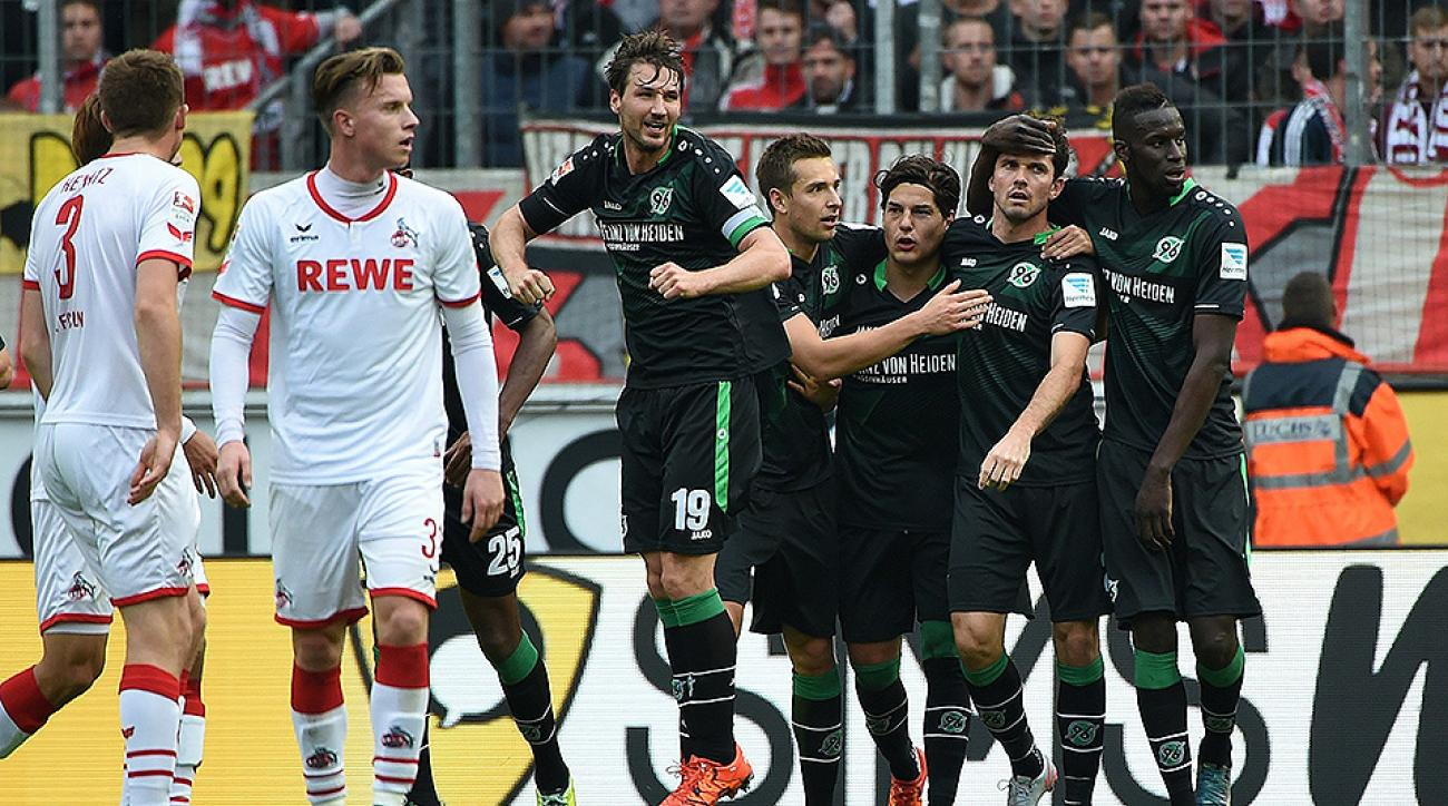 Hannover beats Cologne Bundesliga