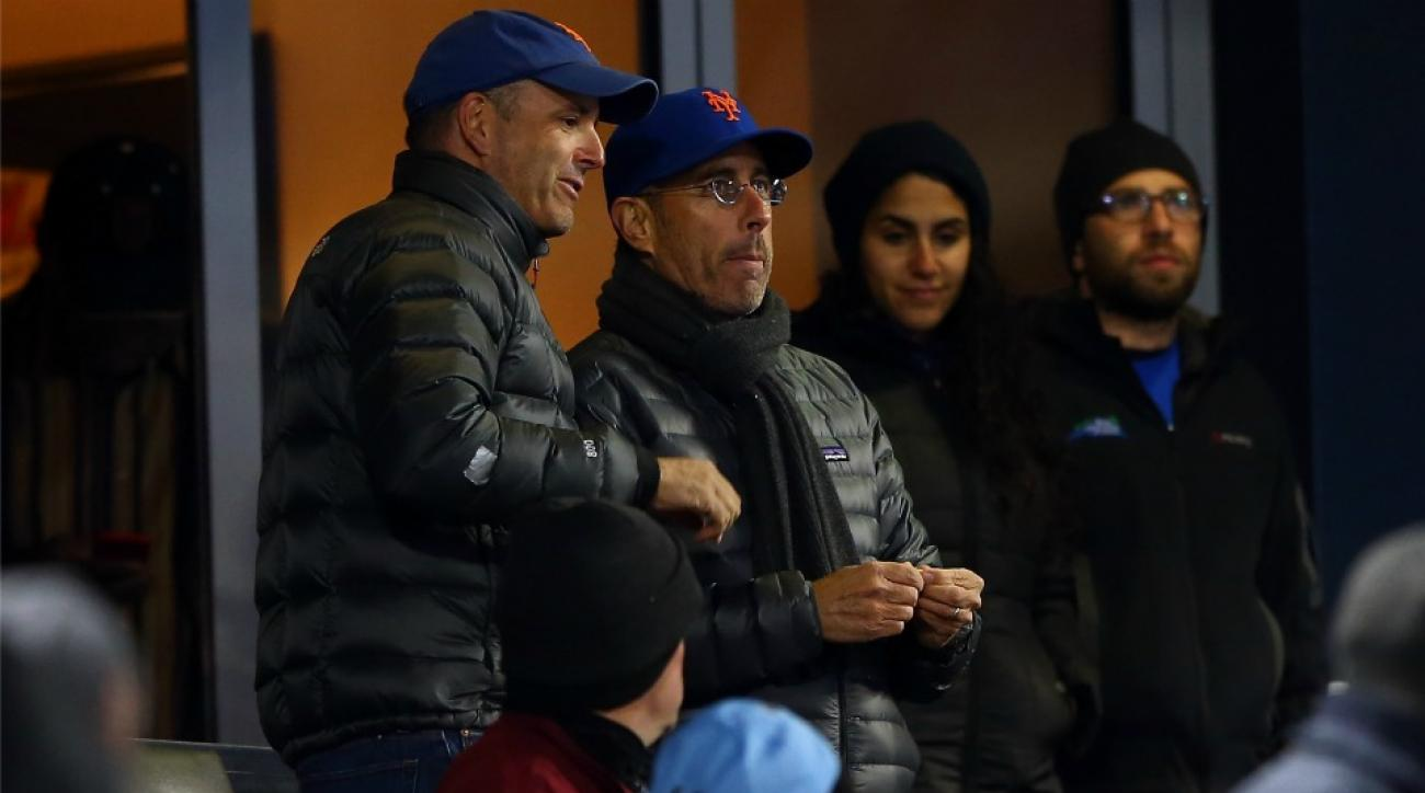New York Mets fan Jerry Seinfeld attends NLCS Game 2