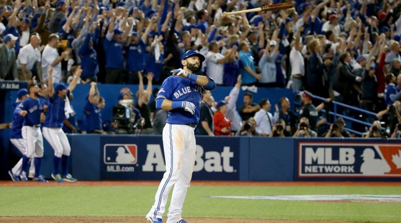 Toronto Blue Jays' Jose Bautista's bat flip is now a jack-o-lantern