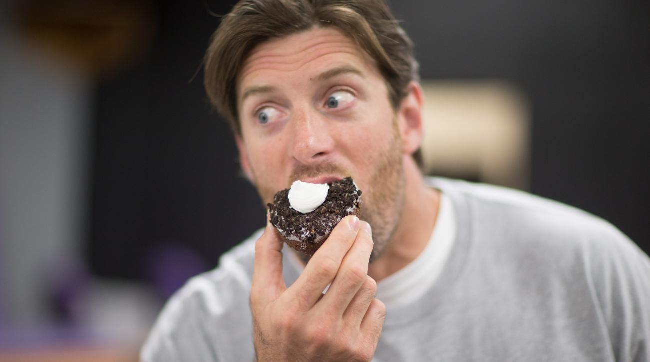 Brian Robison of the Minnesota Vikings' Donut Club.