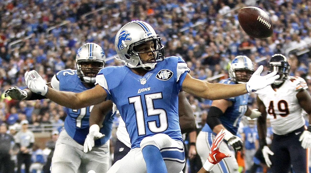 Golden Tate of the Lions as the ball was stripped by Bears defenders in Week 6.