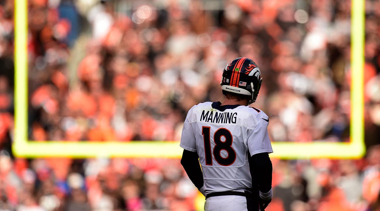 Peyton Manning is on pace to throw 26 interceptions, which would be the most for him since his rookie season in 1998.
