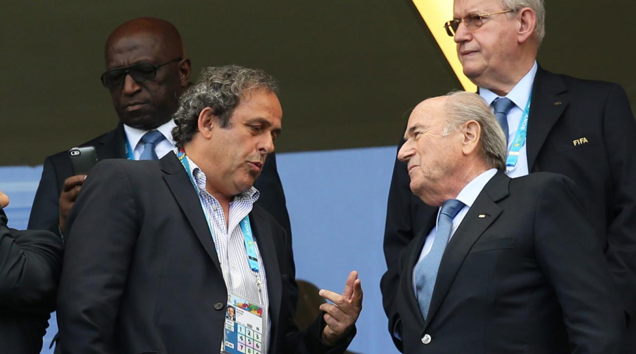 Michel Platini, Sepp Blatter