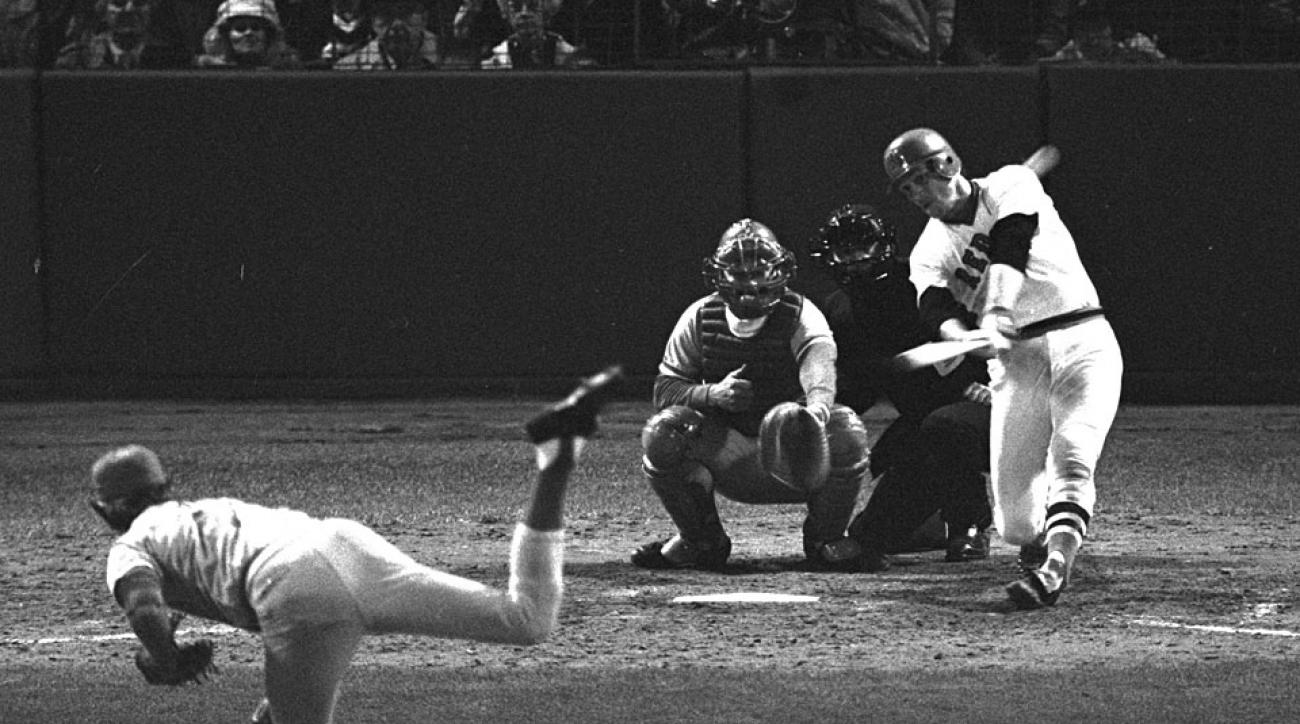 Carlton Fisk Boston Red Sox 1975 World Series