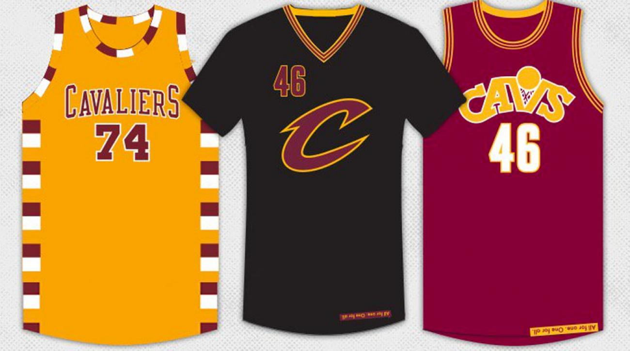 official photos 02b90 04641 Cleveland Cavaliers: three alternate jerseys for LeBron ...