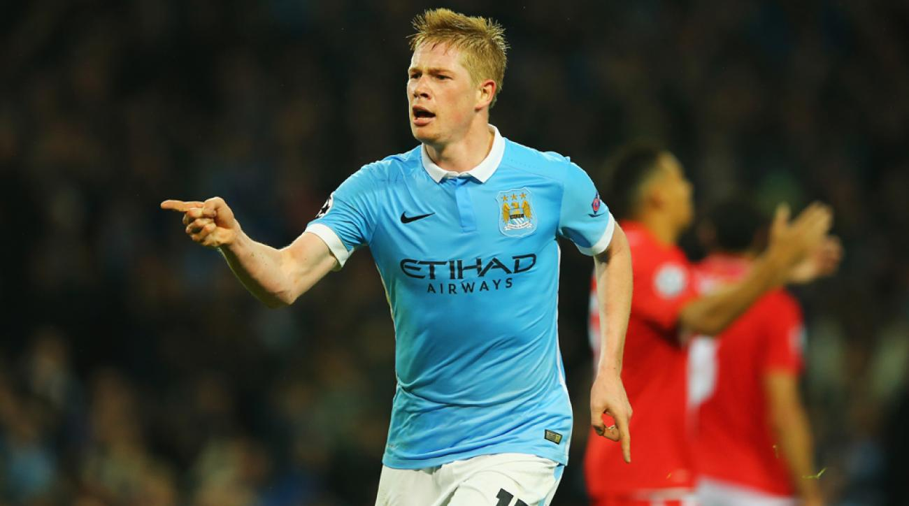 Kevin De Bruyne scores Manchester City's winner in Champions League