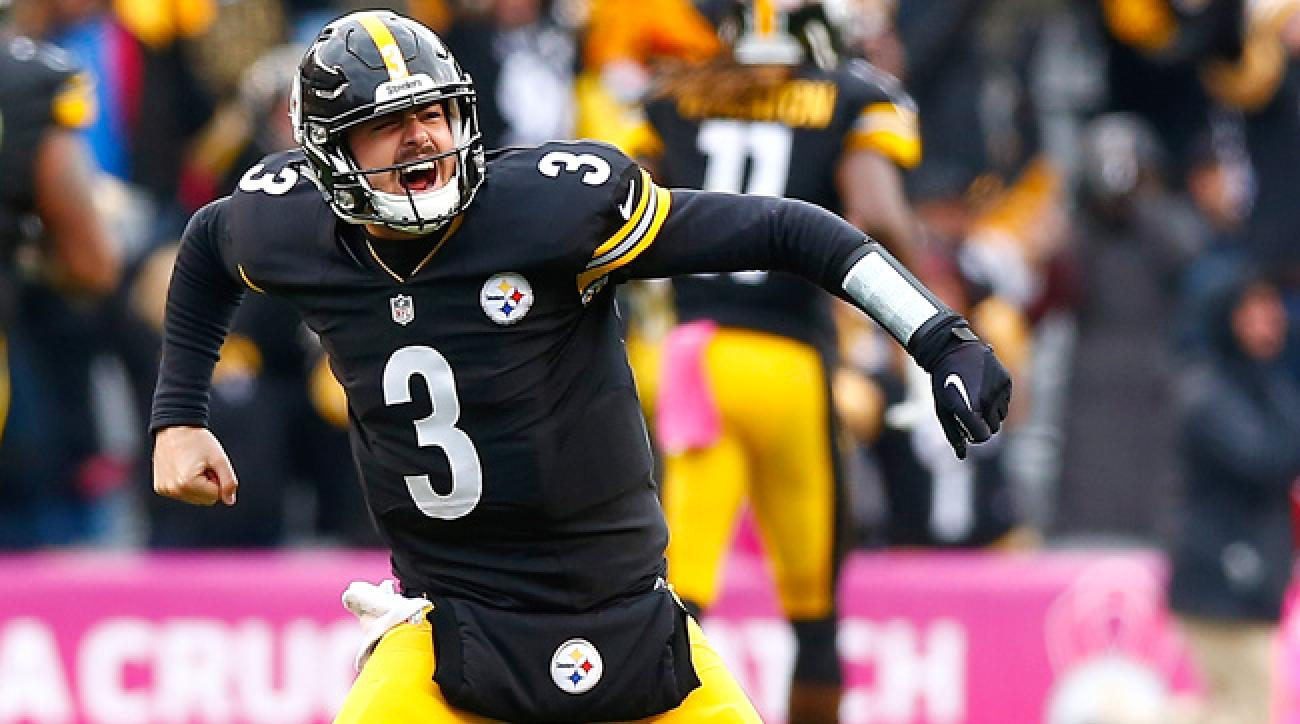 Pittsburgh Steelers QB Landry Jones celebrates in win over Arizona Cardinals.
