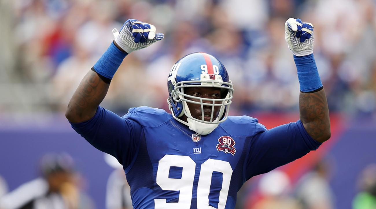 New York Giants Jason Pierre Paul re evaluation date uncertain