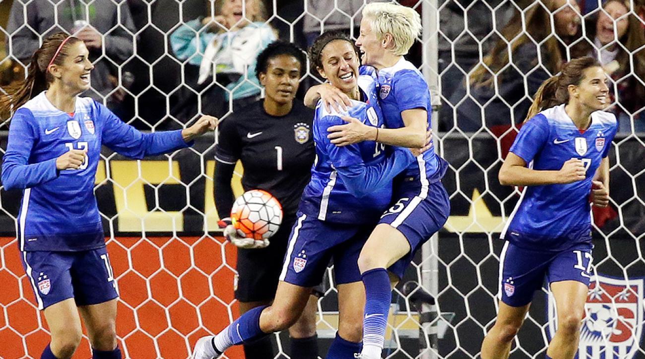Carli Lloyd USA women's soccer Brazil