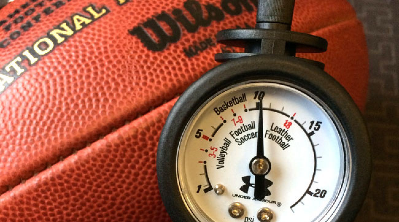 Official NFL ball, inflated to 10.5 psi.