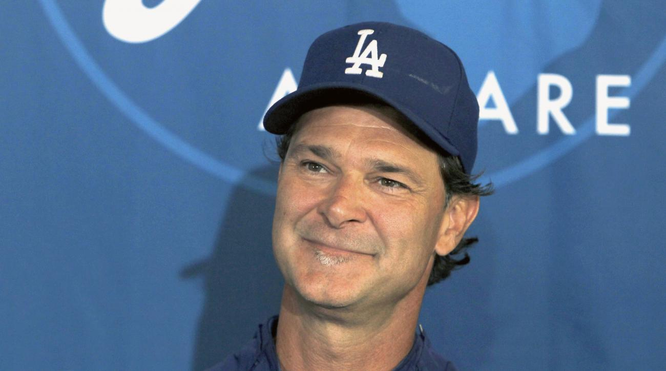 Los Angeles Dodgers Don Mattingly out