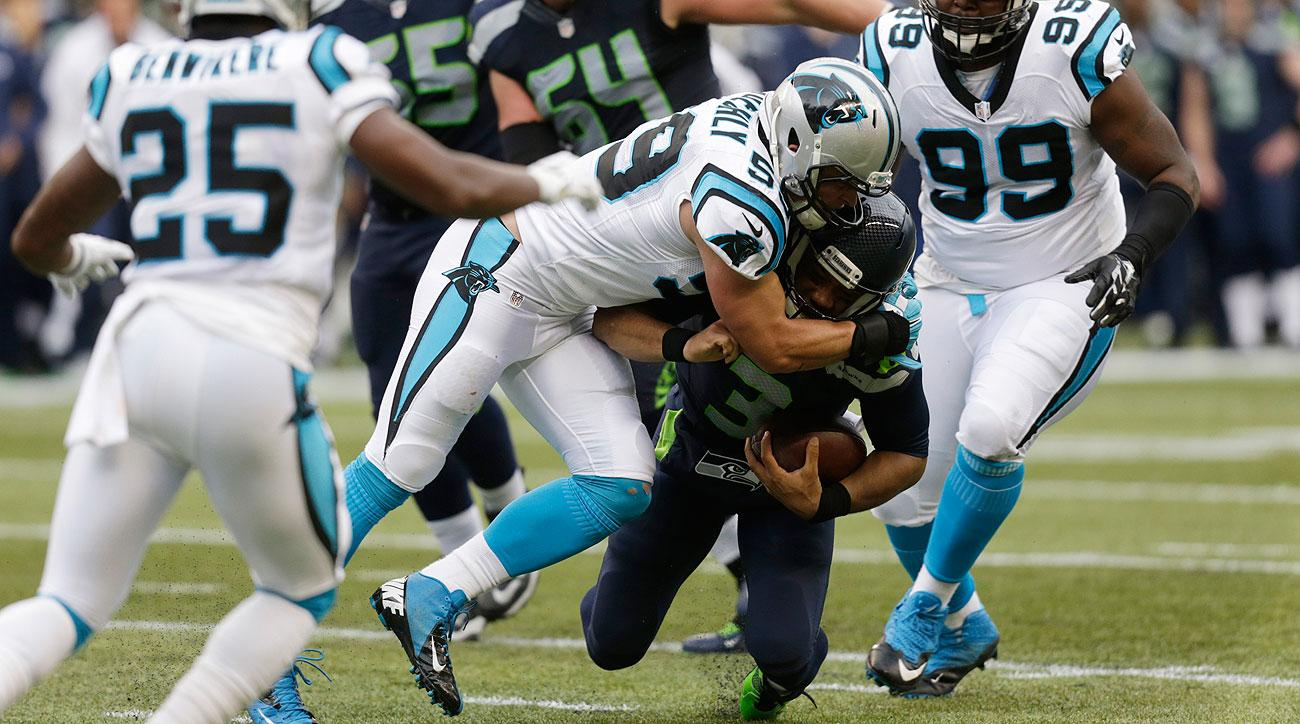 Luke Kuechly had 14 tackles against the Seahawks in his return from concussion.