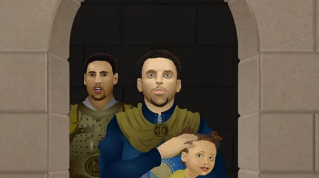 Golden State Warriors star in animated Game of Thrones parody