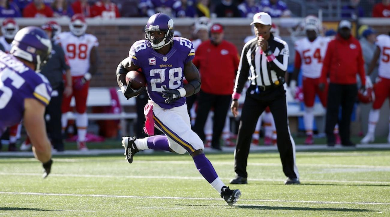 minnesota vikings adrian peterson questionable