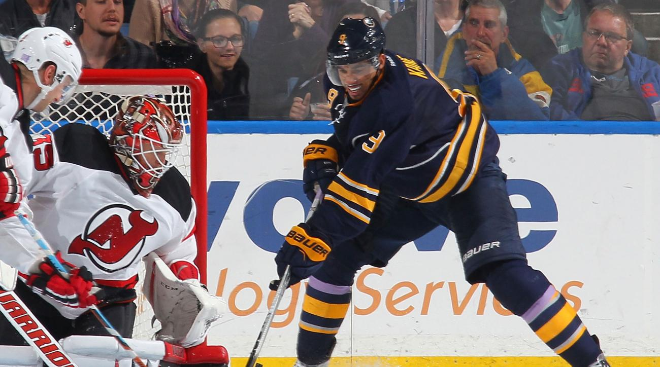 evander kane buffalo sabres knee injury