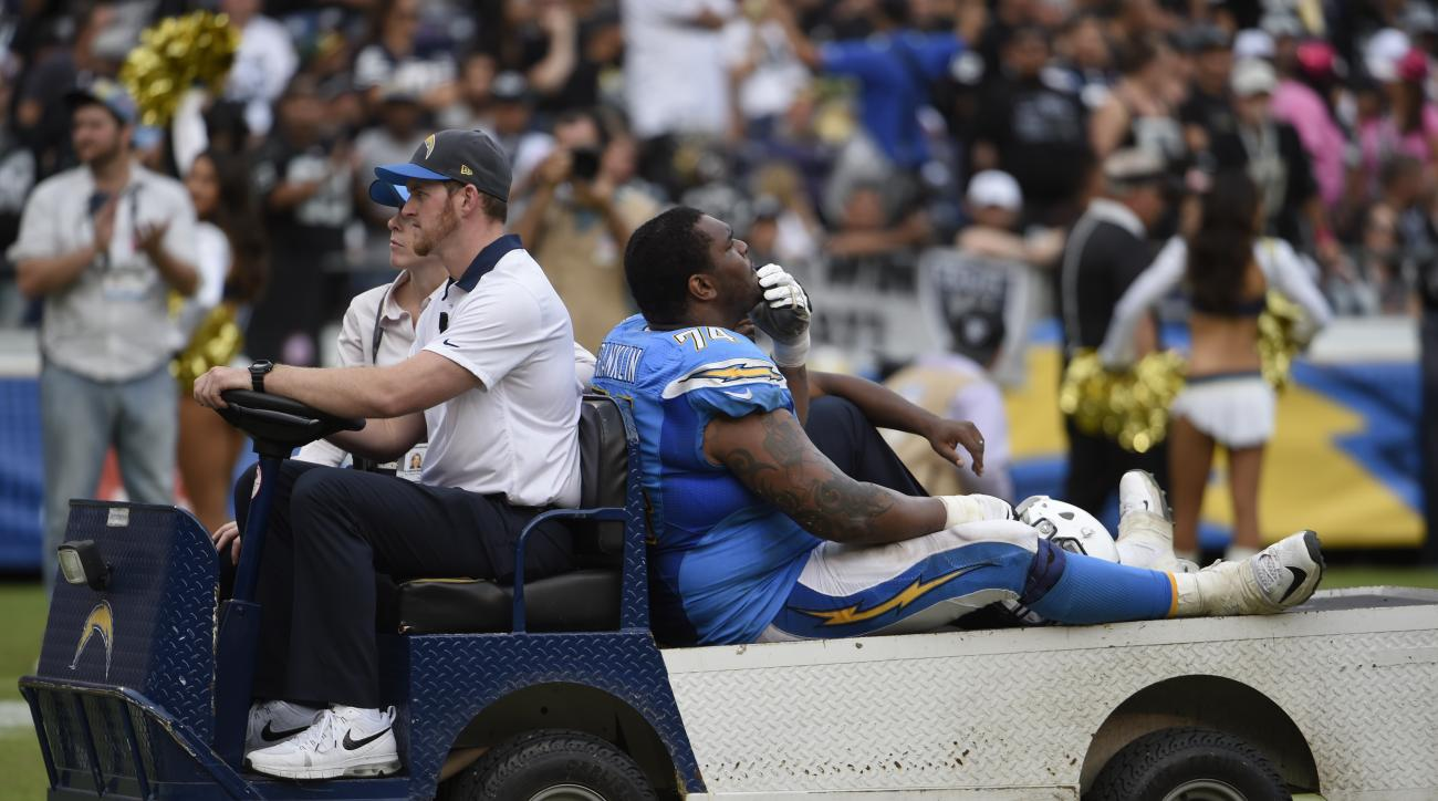 Chargers G Orlando Bloom has injured MCL