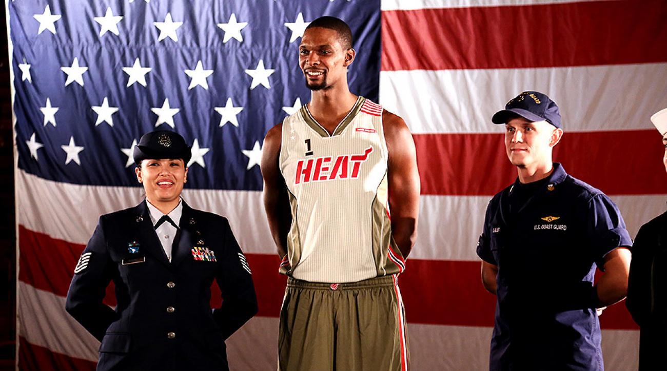 separation shoes 741f5 9eee5 Miami Heat's new alternate uniform has military theme | SI.com