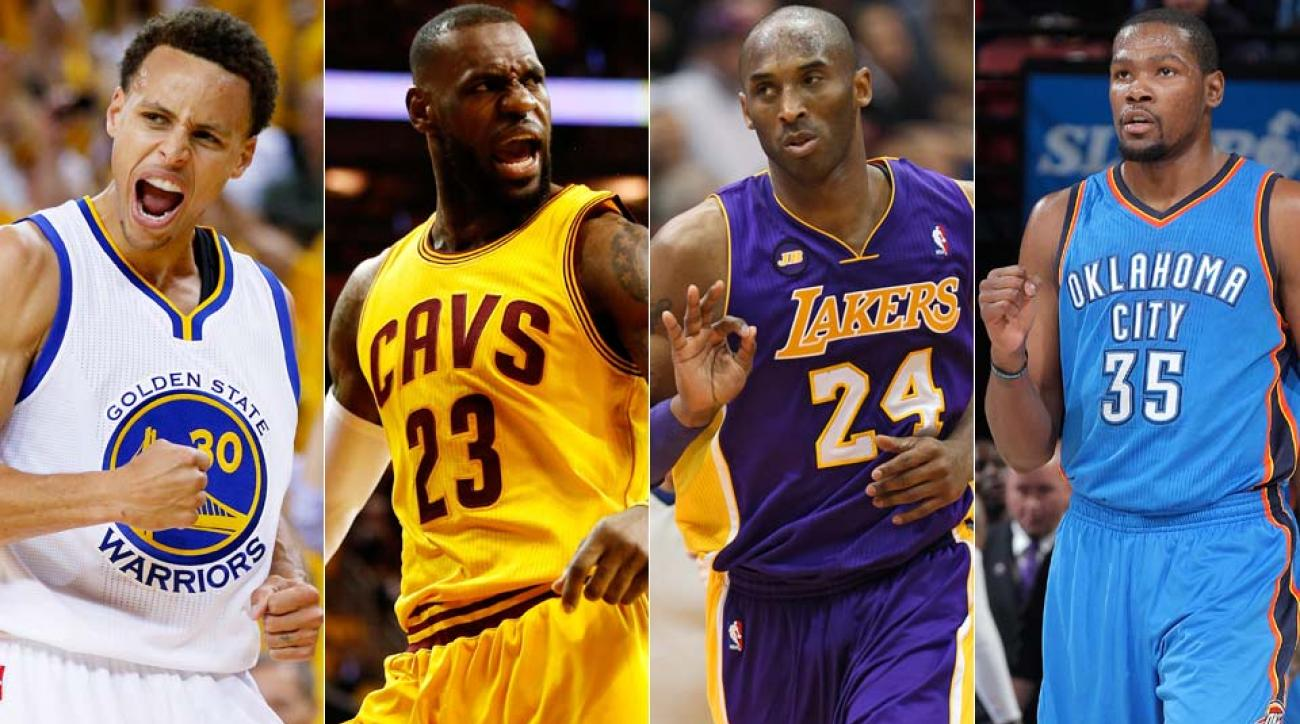 Stephen Curry, LeBron James, Kobe Bryant, Kevin Durant