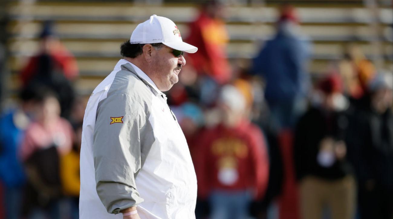 Iowa State football Mark Mangino offensive coordinator fired