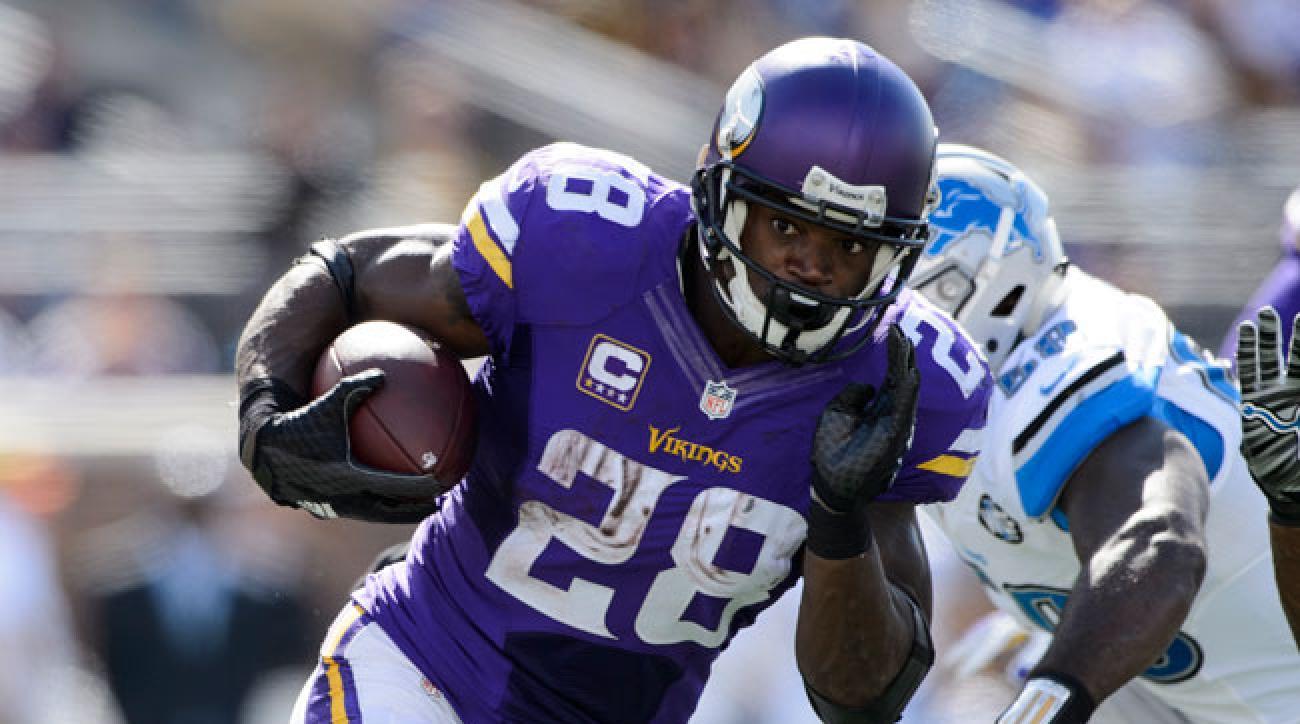 Minnesota Vikings running back Adrian Peterson.