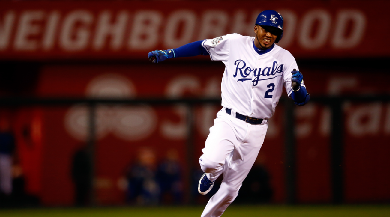 alcides escobar inside the park home run royals mets