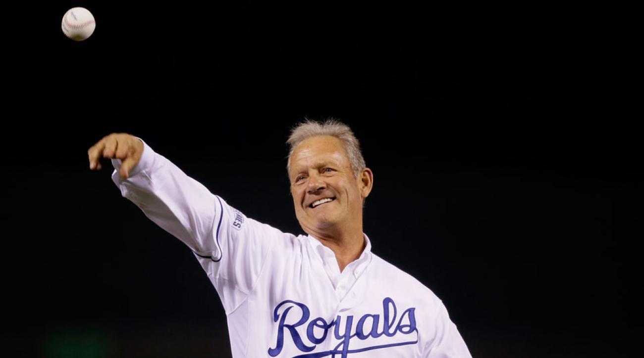 george brett world series first pitch kansas city royals