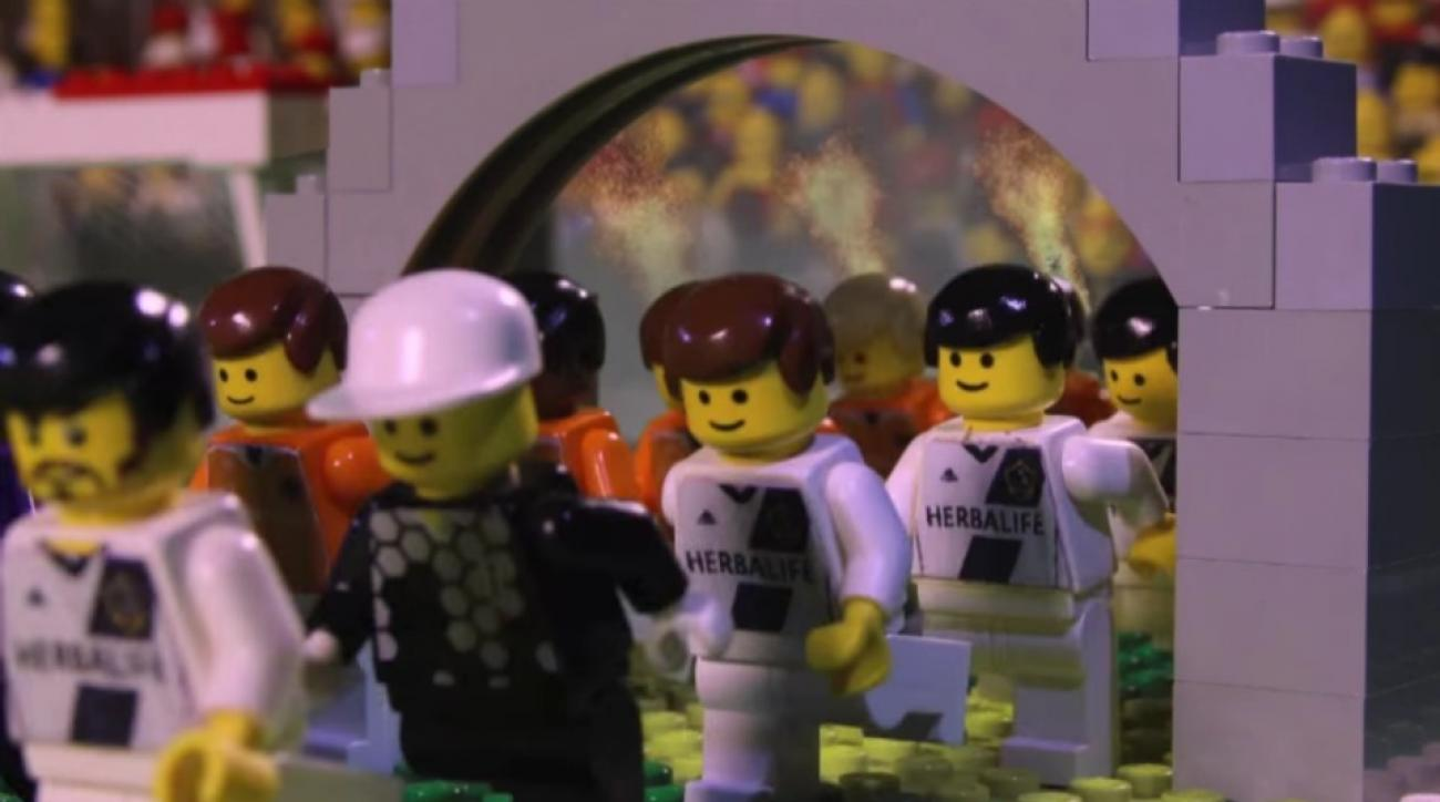 LA Galaxy makes lego highlight video of MLS Cup wins