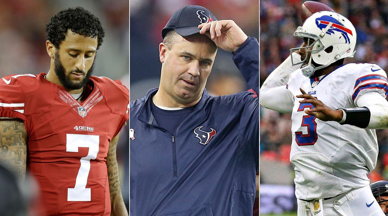 It's been a rough start to the season for Colin Kaepernick's 49ers, Bill O'Brien's Texans and EJ Manuel's Bills.
