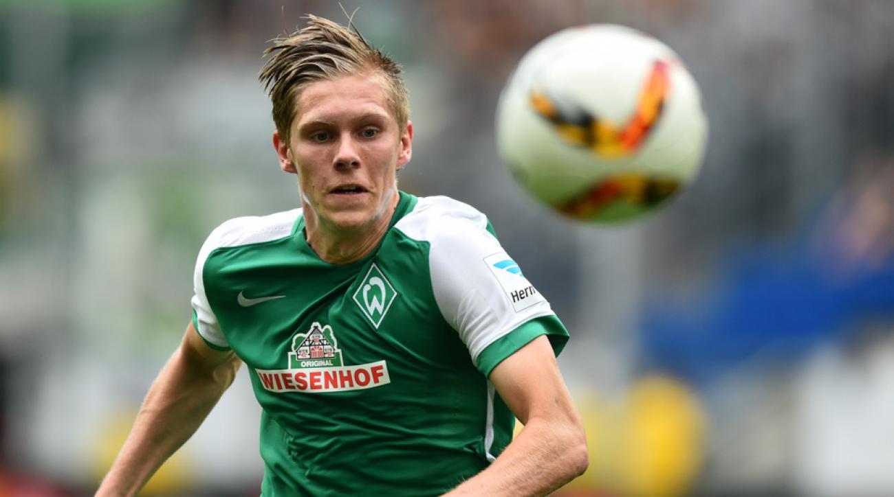 Werder Bremen, USA forward Aron Johannsson