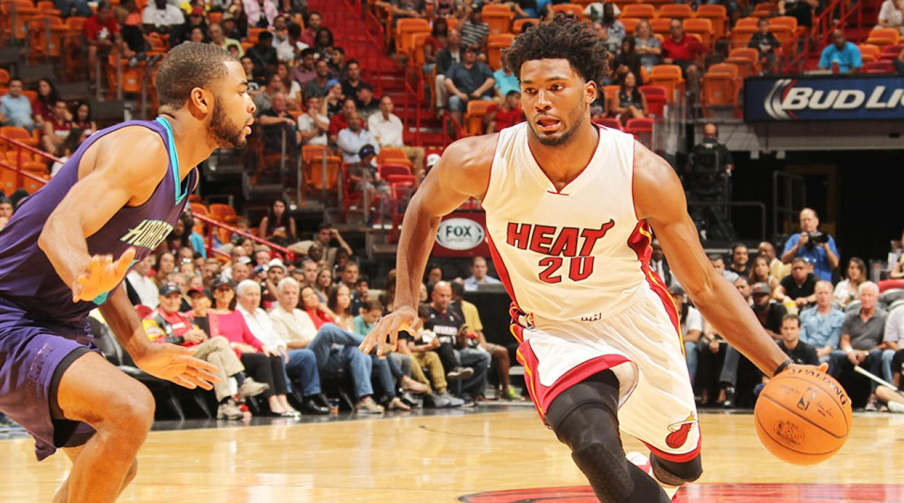 Justise Winslow dunk Miami Heat Charlotte Hornets