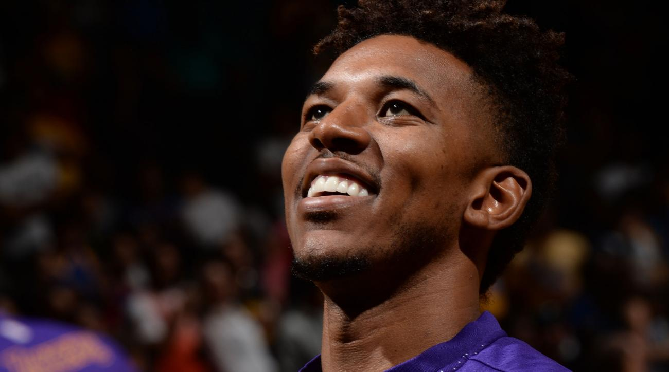 nick young swaggy p lakers halfcourt shot