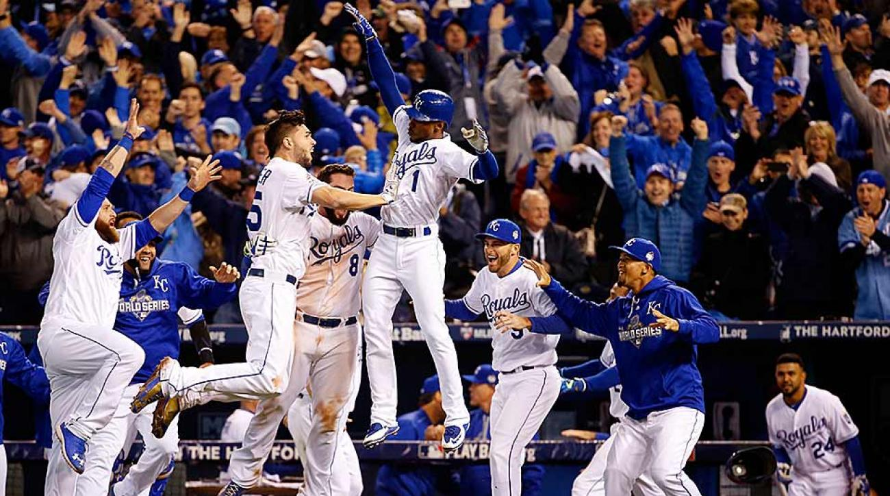 Royals celebrate Game 1 World Series win