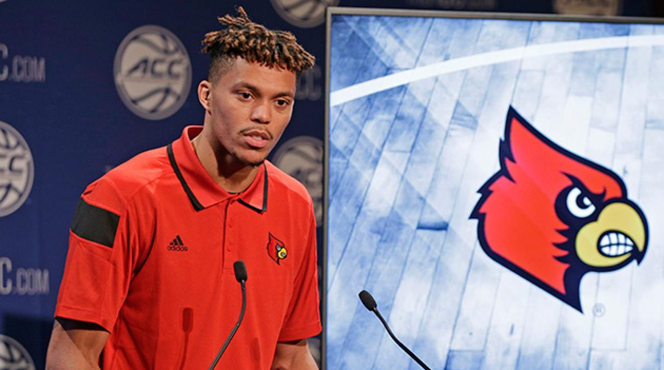 Damion Lee (above) and Trey Lewis were Louisville's only two representatives at ACC Media Day.