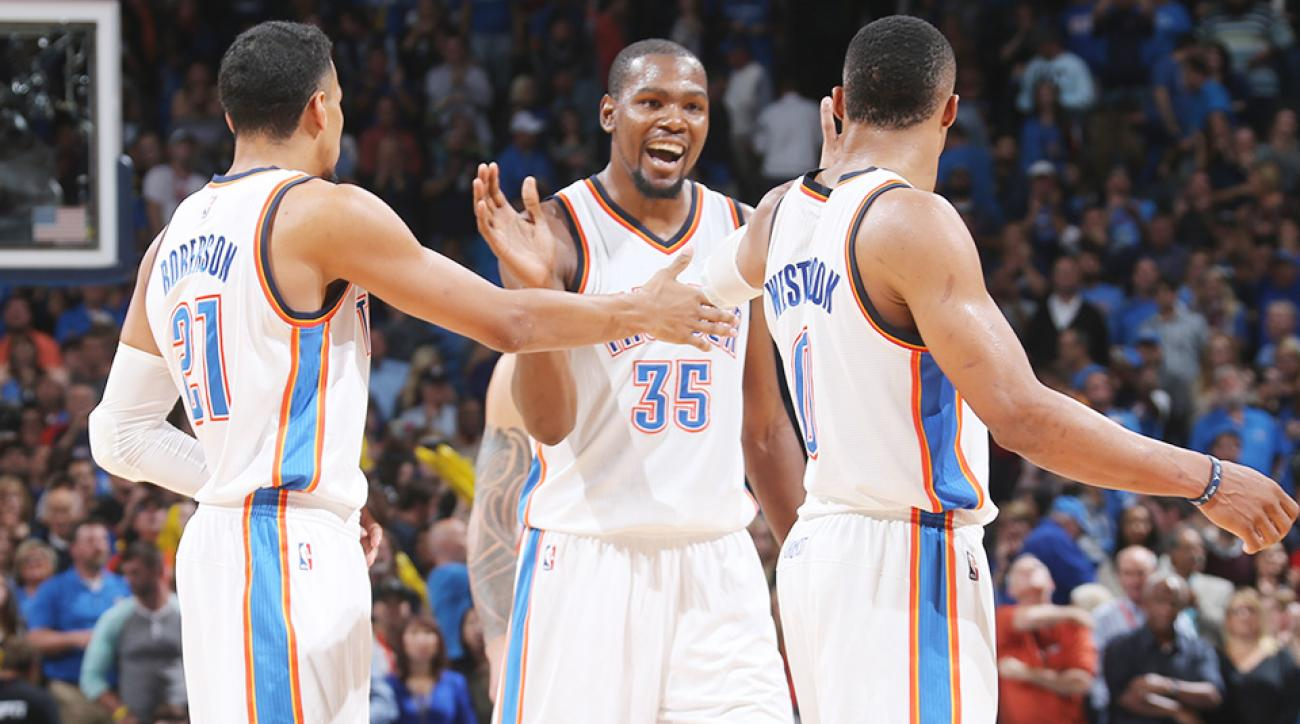 Kevin Durant return Oklahoma City Thunder San Antonio Spurs