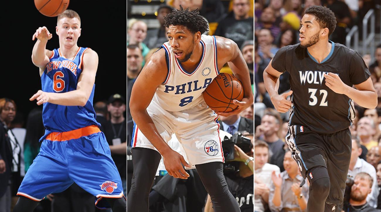 NBA debuts Kristaps Porzingis Jahlil Okafor Karl Towns