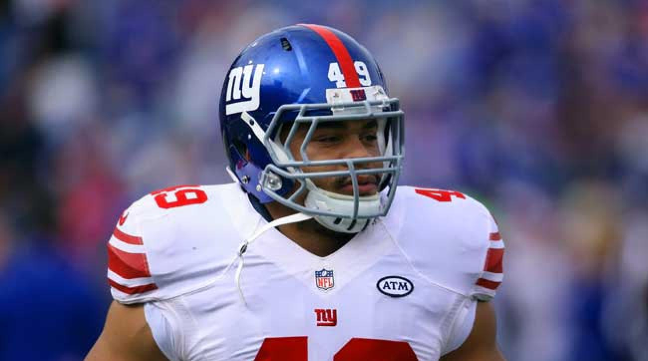 New York Giants fullback/pass rusher/special teams player Nikita Whitlock.