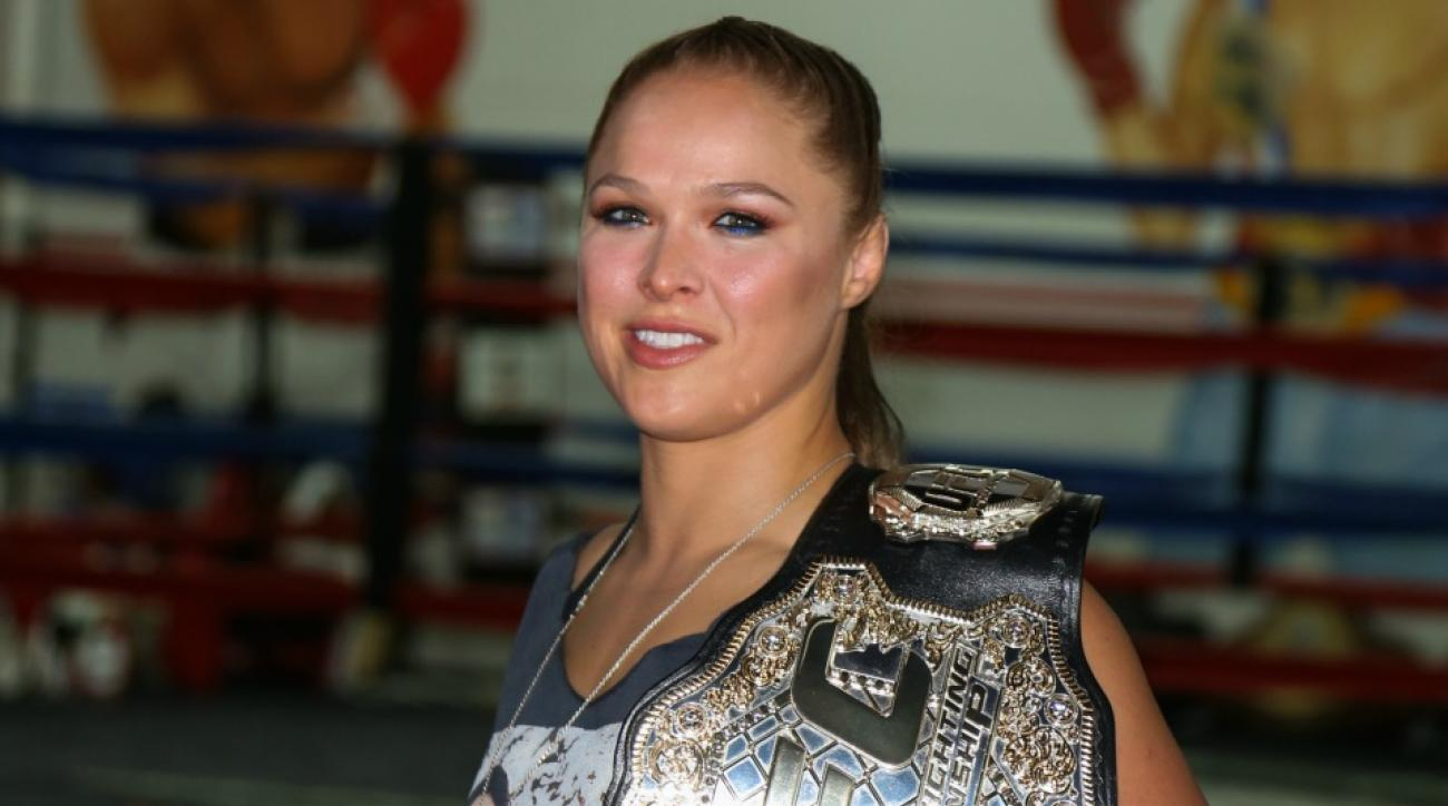 UFC Champion Ronda Rousey would like to try the WWE