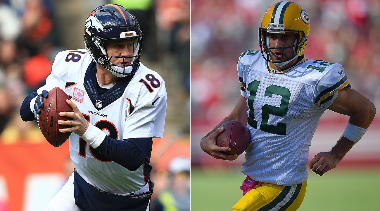 Sunday will be only the second regular season meeting between Peyton Manning and Aaron Rodgers.