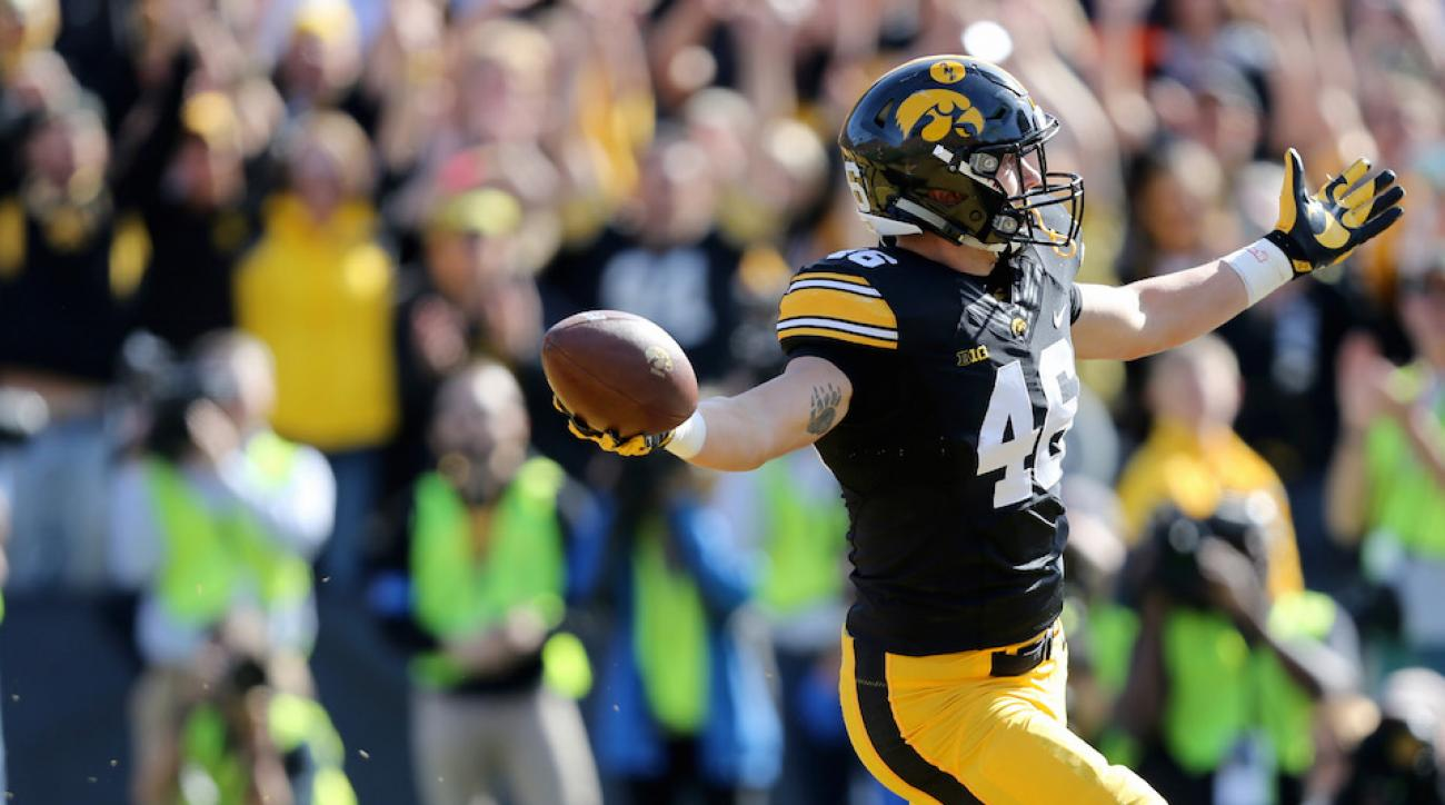 iowa hawkeyes george kittle catch video