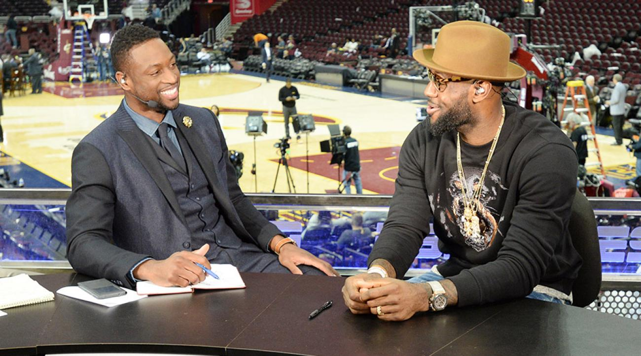 LeBron James Dwyane Wade NBA media members