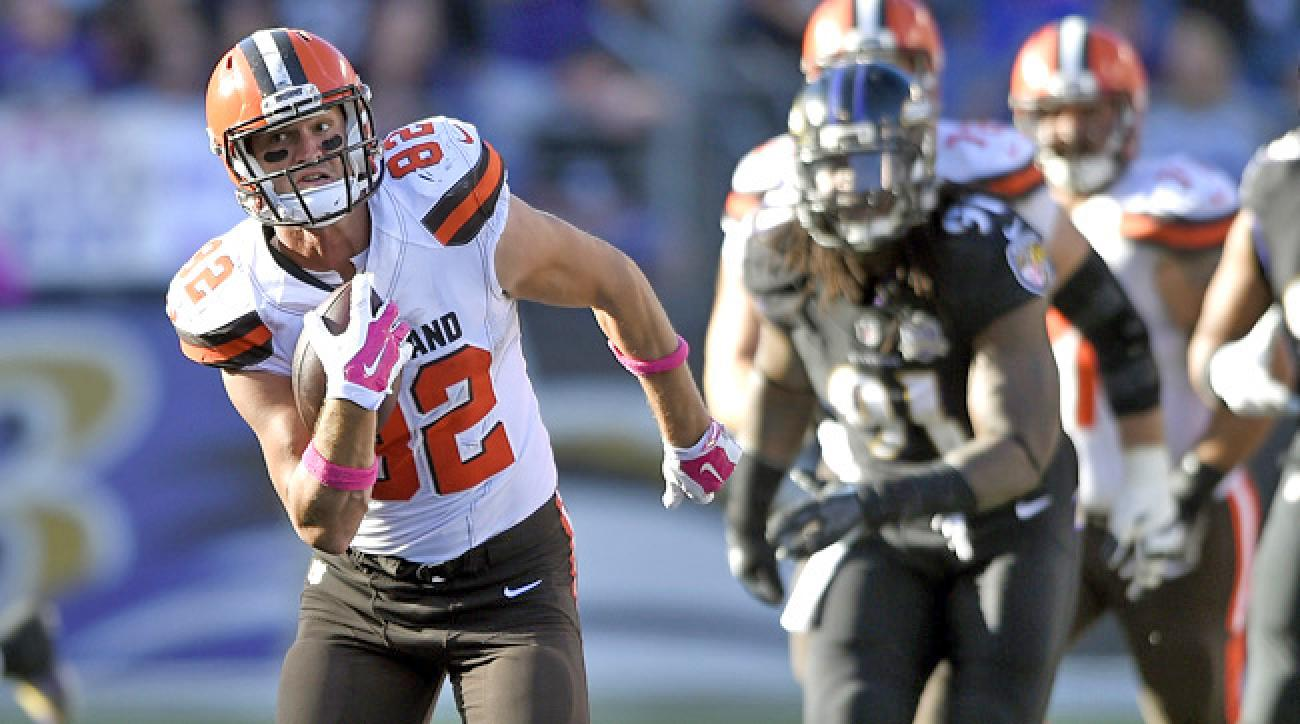 Browns tight end Gary Barnidge against the Baltimore Ravens