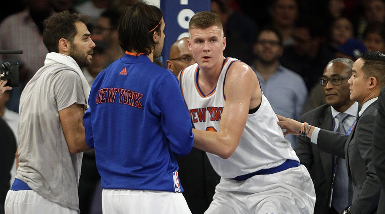knicks kristaps porzingis neck injury update