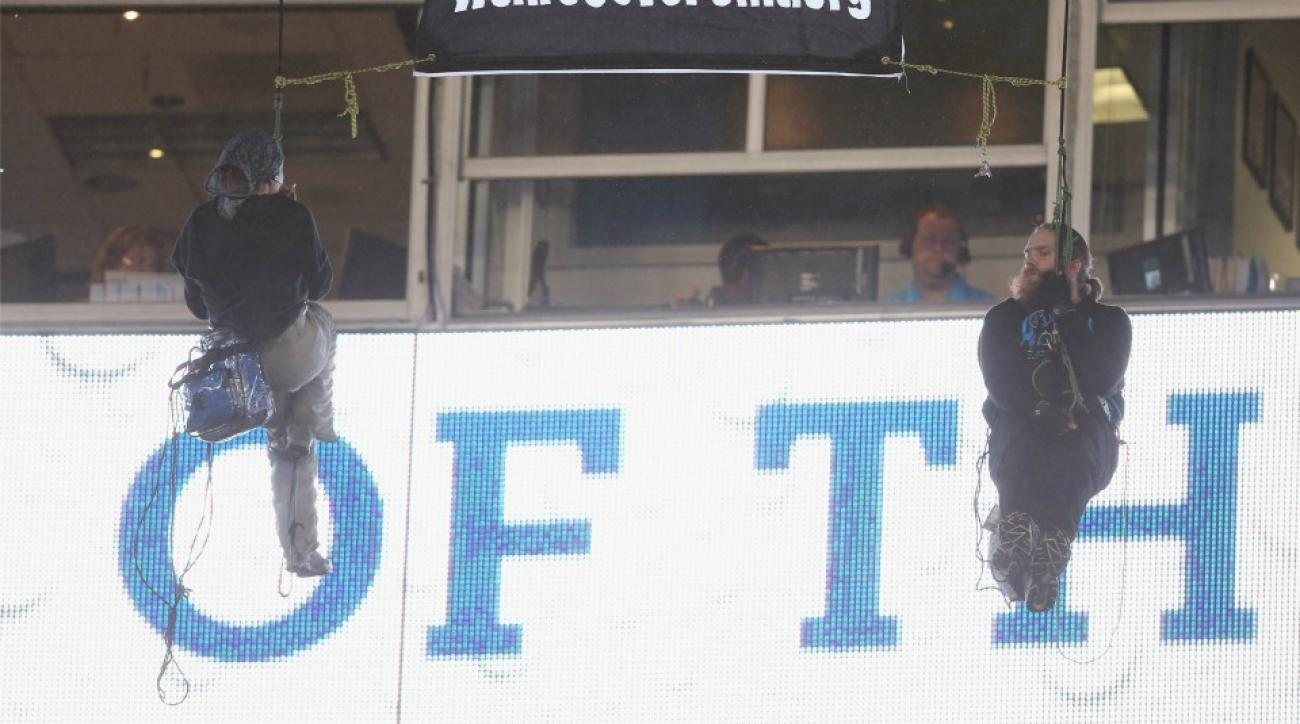 Panthers-Colts Monday Night Football game interrupted by protestors