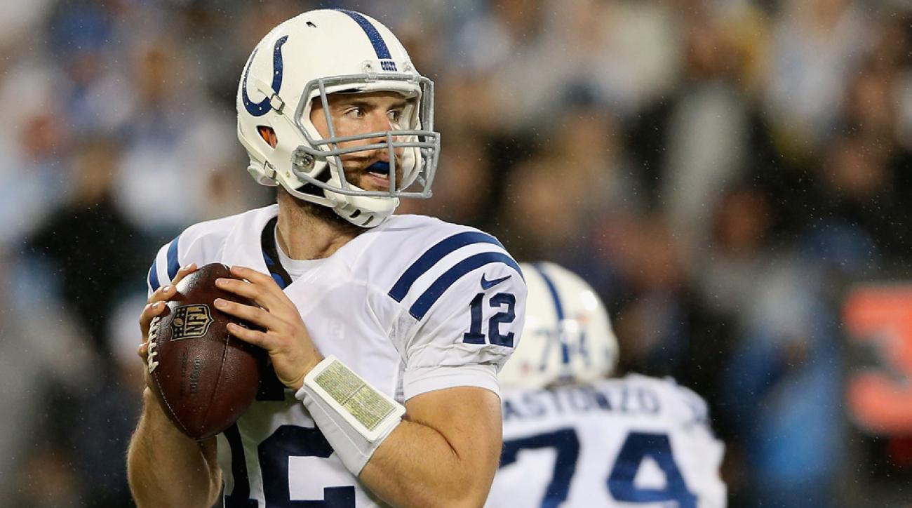 indianapolis colts andrew luck interceptions loss to carolina panthers