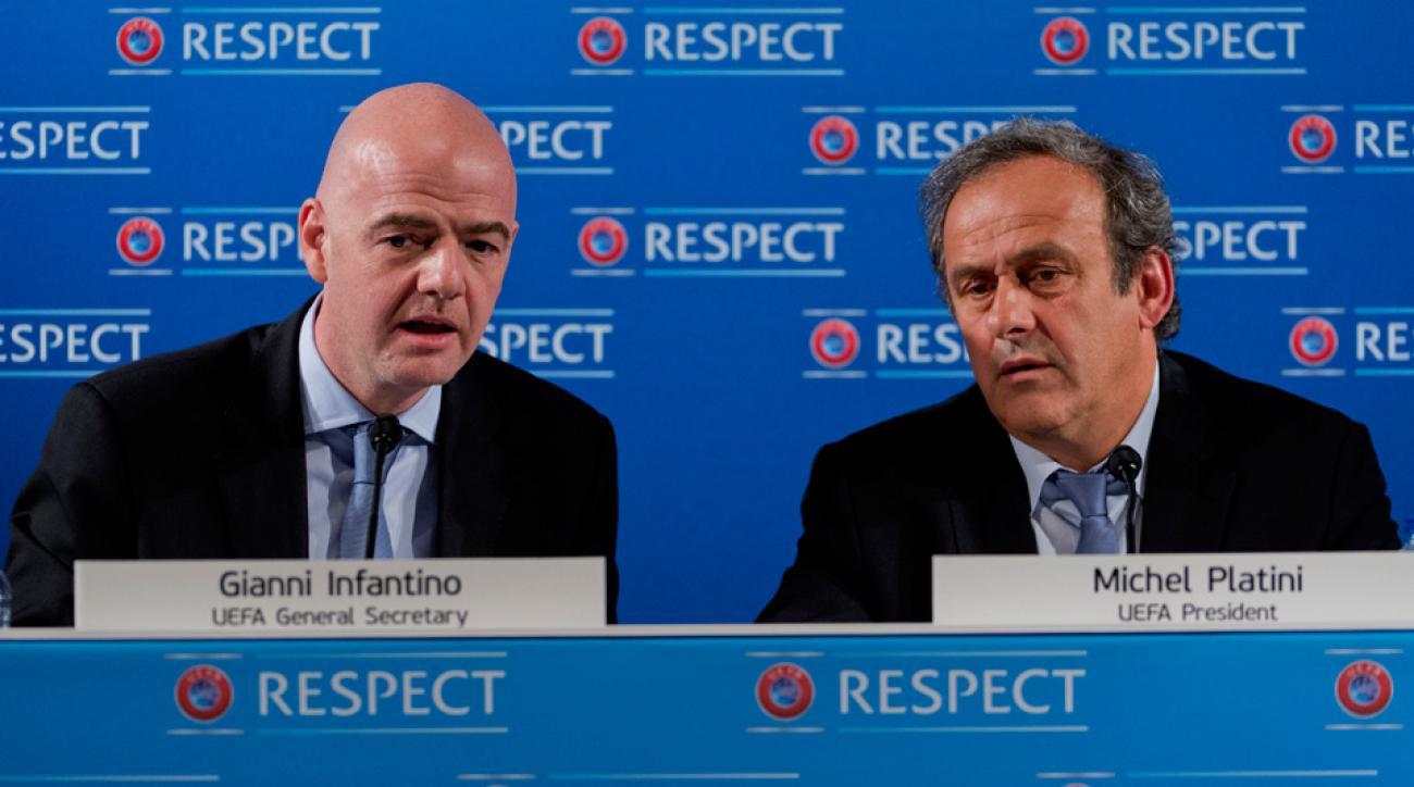 Gianni Infantino, Michel Platini